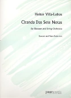 Ciranda Das Sete Notas VILLA-LOBOS Partition Basson - laflutedepan