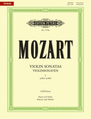 Violin Sonatas, Volume 1 KV 301-306 MOZART Partition laflutedepan