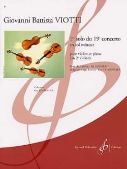 Giovanni Battista Viotti - 1st Solo of the Concerto n ° 19 - Partition - di-arezzo.com