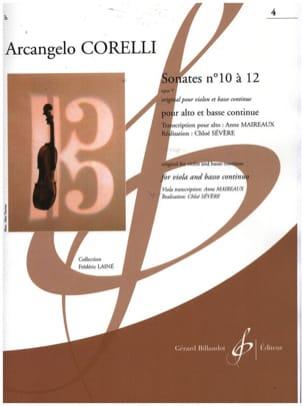 Sonates op. 5 n° 10 à 12 Arcangelo Corelli Partition laflutedepan