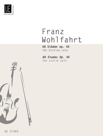 60 Etüden für Violine solo - Franz Wohlfahrt - laflutedepan.com