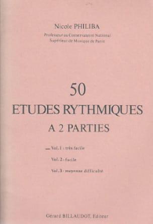 50 Etudes rythmiques - Volume 1 - Nicole Philiba - laflutedepan.com