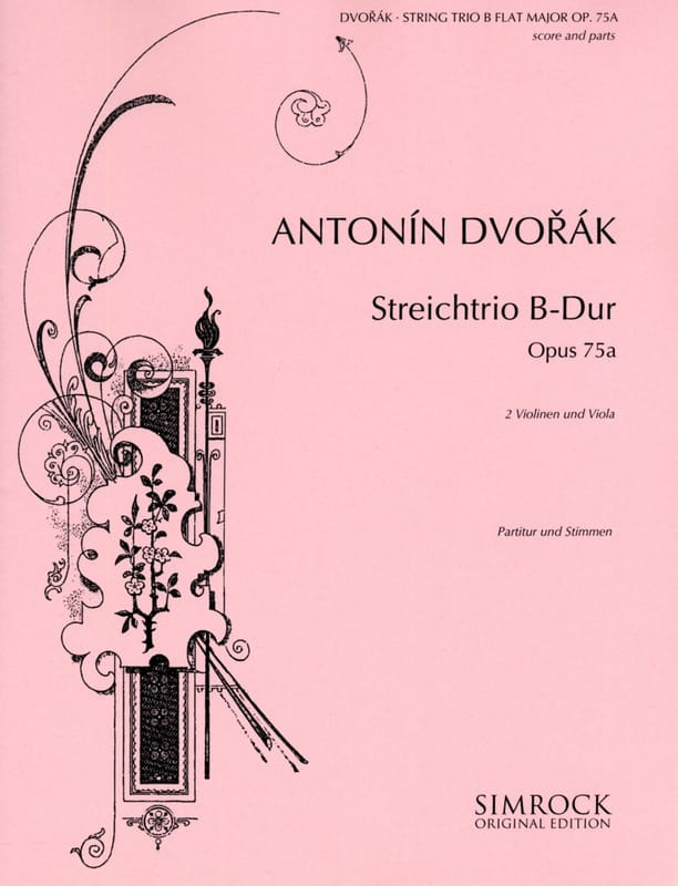 Miniatures Streichtrio B-Dur Op. 75a -partitur + Stimmen - laflutedepan.com