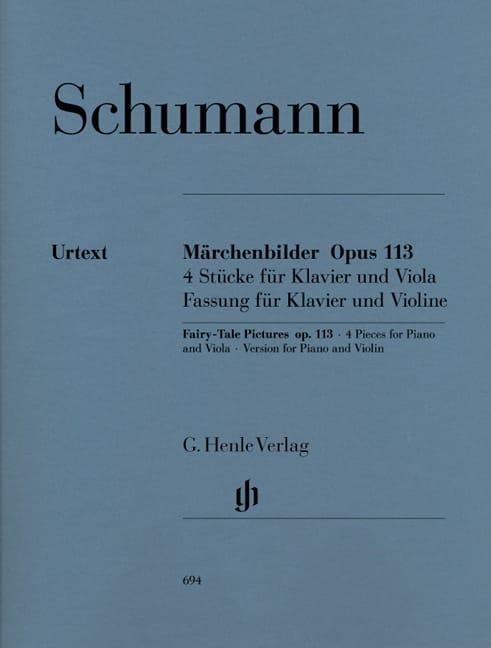 Märchenbilder op. 113 pour violon et piano - laflutedepan.com