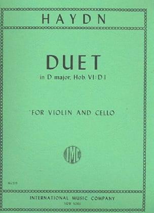 Duet in D major - HAYDN - Partition - 0 - laflutedepan.com