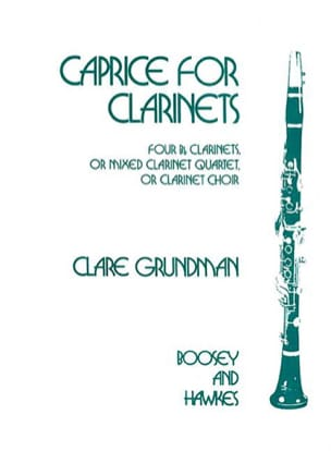 Caprice for Clarinets Clare Grundman Partition laflutedepan