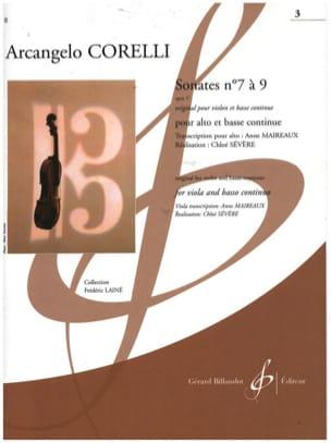 Sonates op. 5 n° 7 à 9 Arcangelo Corelli Partition Alto - laflutedepan