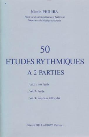50 Etudes rythmiques - Volume 2 - Nicole Philiba - laflutedepan.com