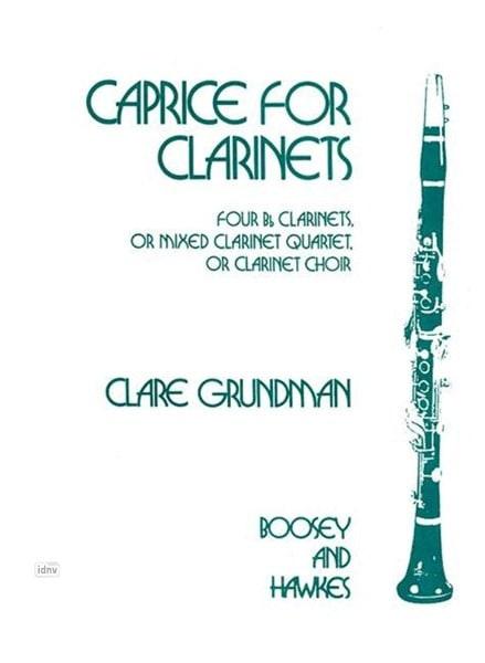 Caprice for Clarinets - Clare Grundman - Partition - laflutedepan.com