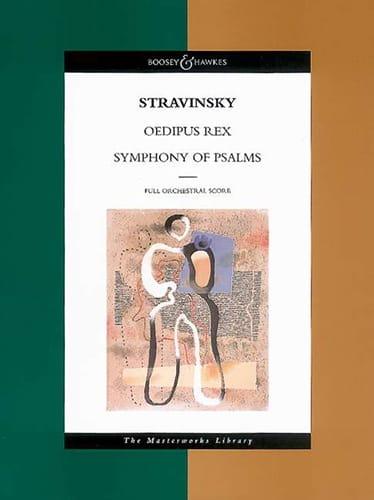 Oedipus Rex - Symphony Of Psalms -Score - laflutedepan.com