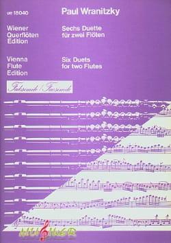 6 Duette Fac-Simile - Paul Wranitzky - Partition - laflutedepan.com