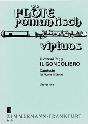 Il Gondoliero - Flöte Klavier Giovanni Paggi Partition laflutedepan