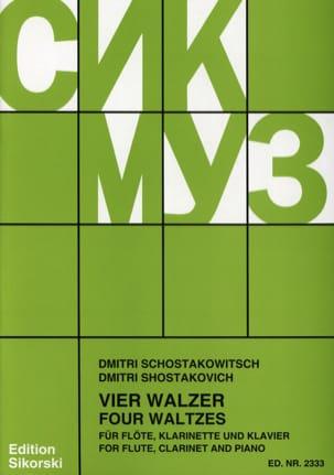 4 Walzer - Flöte Klarinette Klavier - CHOSTAKOVITCH - laflutedepan.com