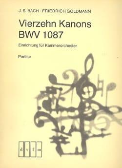 14 Kanons BWV 1087 - Kammerorchester - Conducteur - laflutedepan.com