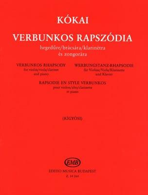 Rezso Kokaï - Verbunkos Rhapsody - Partition - di-arezzo.fr