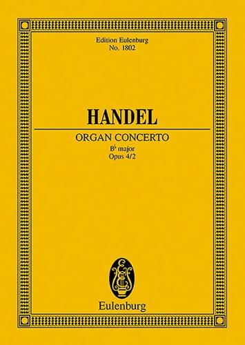 Orgel-Konzert B-Dur, Op. 4/2 - Conducteur - HAENDEL - laflutedepan.com
