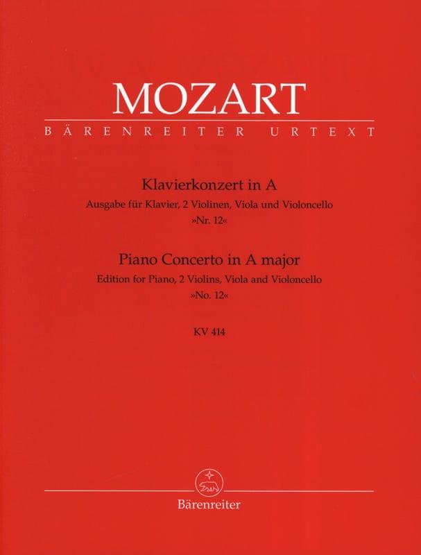 Concerto pour piano en la Majeur KV 414 - Version Quintette cordes piano - laflutedepan.com