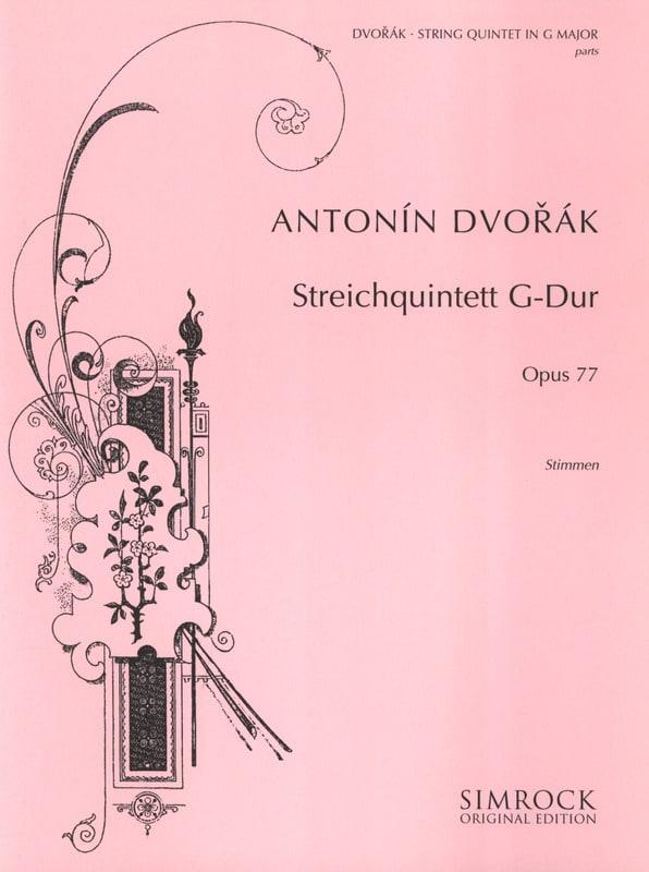 Quintett G-Dur op. 77 -Stimmen - DVORAK - laflutedepan.com