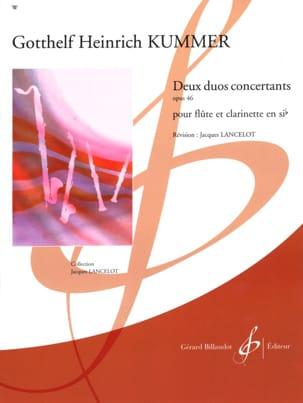 2 Duos concertants op. 46 Gotthelf-Heinrich Kummer laflutedepan
