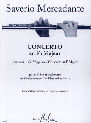 Concerto en Fa Majeur Saverio Mercadante Partition laflutedepan