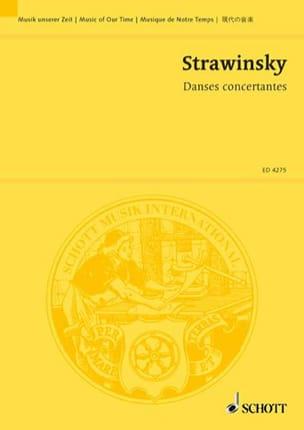 Igor Stravinsky - Concertante dances - Partitur - Partition - di-arezzo.com