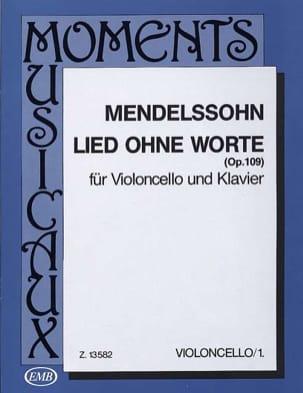 MENDELSSOHN - Lied ohne Worte op. 109 - Partition - di-arezzo.es