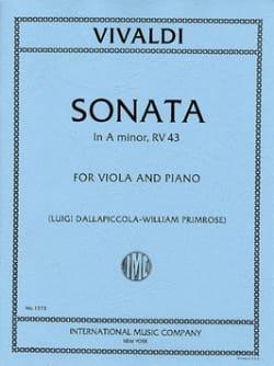 Sonate in A minor RV 43 - Viola VIVALDI Partition Alto - laflutedepan