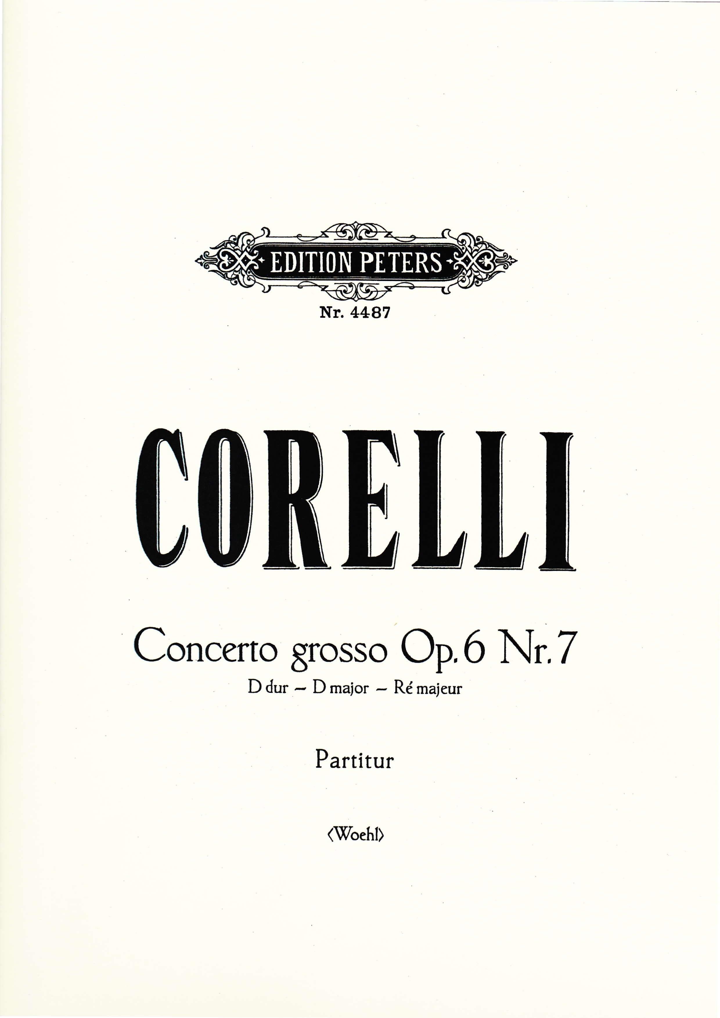 Concerto Grosso D-Dur op. 6 n° 7 - Partitur - laflutedepan.com