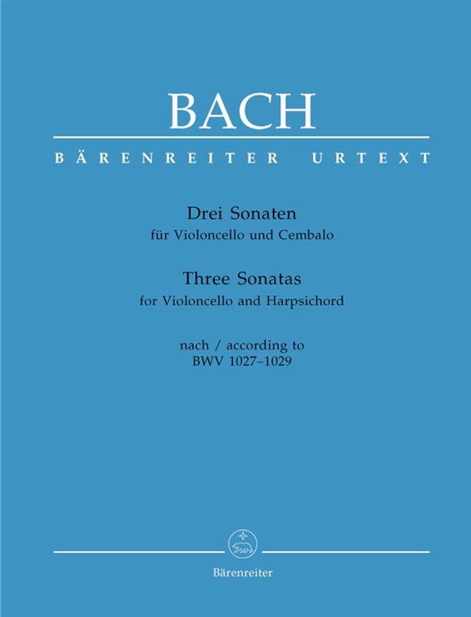 3 Sonates BWV 1027-1029 - BACH - Partition - laflutedepan.com