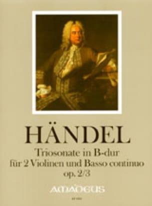 Triosonate B-Dur op. 2 Nr. 3 -Stimmen - HAENDEL - laflutedepan.com