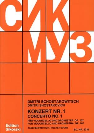 Concerto Violoncello n° 1 op. 107 - Partitur laflutedepan