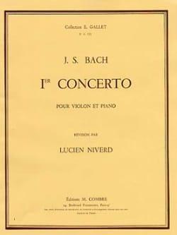 Concerto Violon n° 1 la mineur BWV 1041 BACH Partition laflutedepan