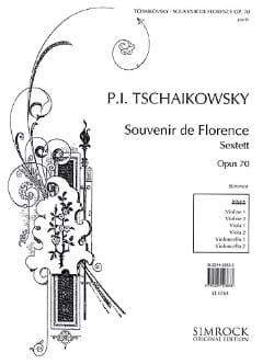 Souvenir de Florence op. 70 - Stimmen TCHAIKOVSKY laflutedepan