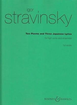 2 Poems and 3 Japanese Lyrics - Score STRAVINSKY laflutedepan