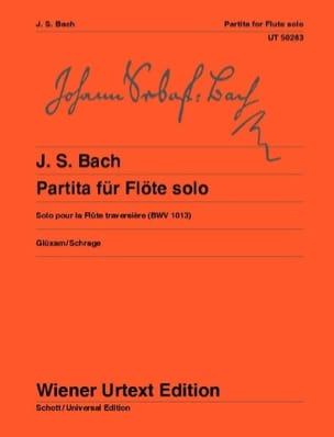 Partita pour flûte solo, BWV 1013 BACH Partition laflutedepan