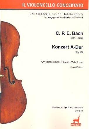 Konzert fur Violoncello A-Dur Wq 172 - Klavierauszug - laflutedepan.com