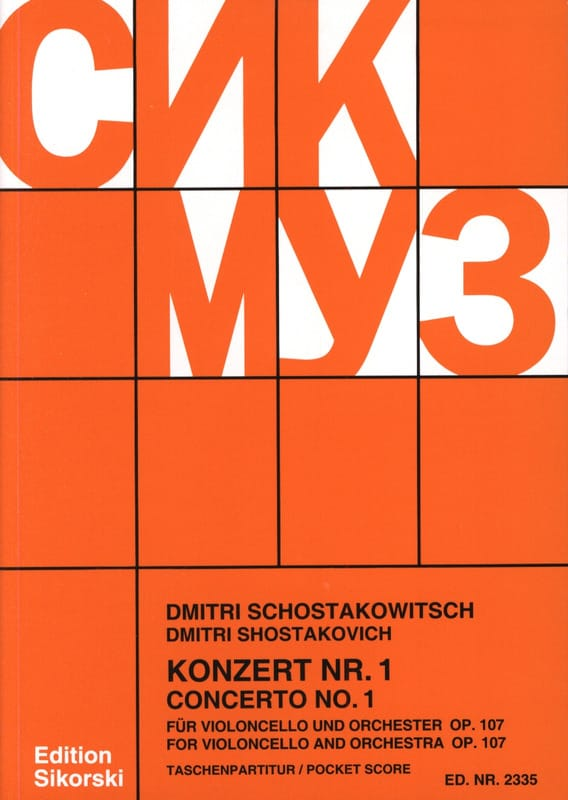 Concerto Violoncello n° 1 op. 107 - Partitur - laflutedepan.com