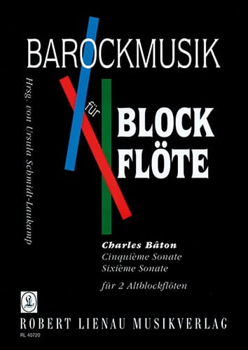 Cinquième sonate - Sixième sonate - Charles Bâton - laflutedepan.com