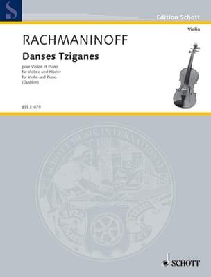 Danses Tziganes RACHMANINOV Partition Violon - laflutedepan