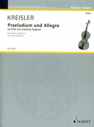 Prelude et Allegro - Pugnani KREISLER Partition Violon - laflutedepan