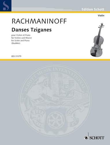 Danses Tziganes - RACHMANINOV - Partition - Violon - laflutedepan.com