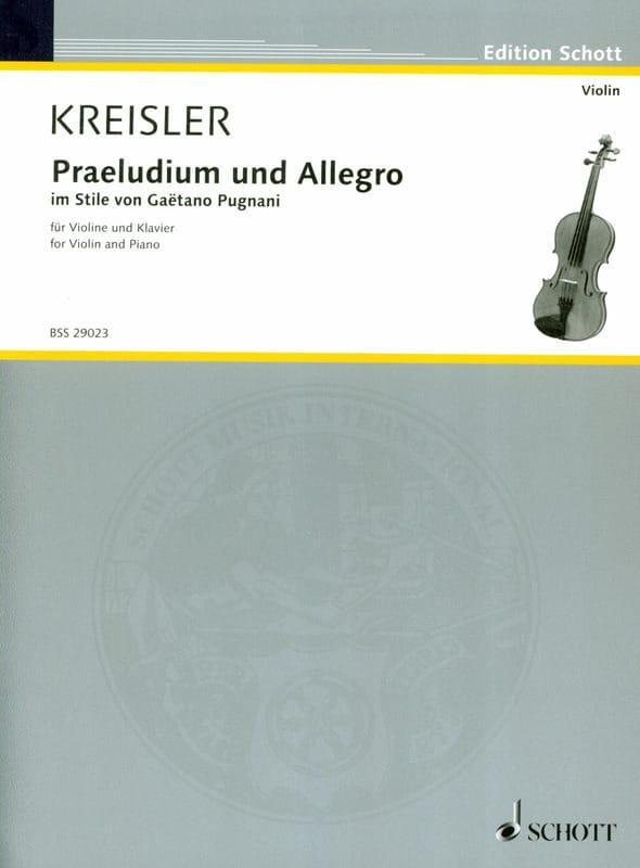 Prelude et Allegro - Pugnani - KREISLER - Partition - laflutedepan.com