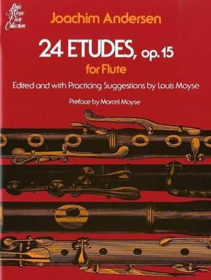 24 Etudes op. 15 ANDERSEN Partition Flûte traversière - laflutedepan