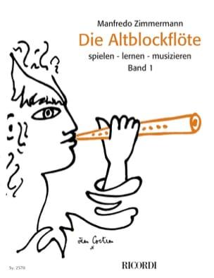 Die Altblockflöte Band 1 Manfredo Zimmermann Partition laflutedepan