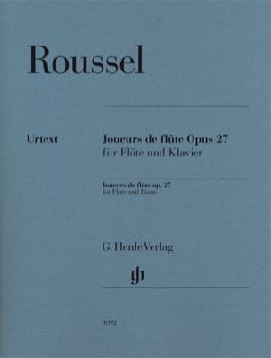Albert Roussel - Flute players opus 27 for flute and piano - Urtext - Partition - di-arezzo.com