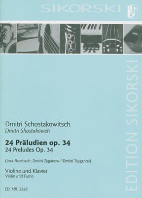 24 Préludes, opus 34 - Dmitri Chostakovitch - laflutedepan.com