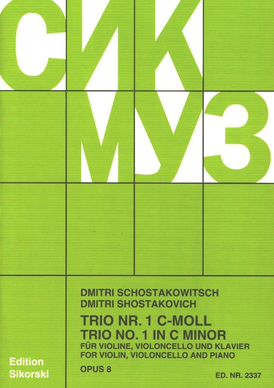 Trio Nr. 1 op. 8 -Stimmen - CHOSTAKOVITCH - laflutedepan.com