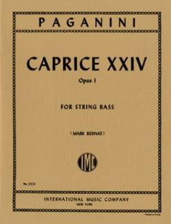 Caprice n° 24 op. 1 - String bass PAGANINI Partition laflutedepan
