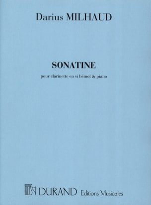Sonatine - Clarinette MILHAUD Partition Clarinette - laflutedepan