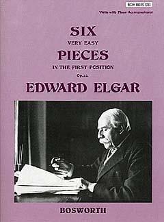 6 Very easy pieces op. 22 -Violin ELGAR Partition laflutedepan